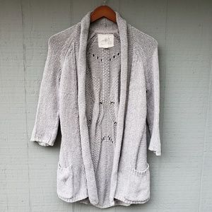 Angel of the North Grey Open Front Long Cardigan M